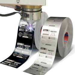 Gravure étiquette bi-couche