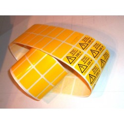 Etiquettes polyester jaune,...