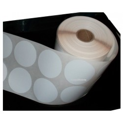 Étiquettes rondes polypropylène blanc