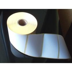 Étiquette adhésive papier blanc standard