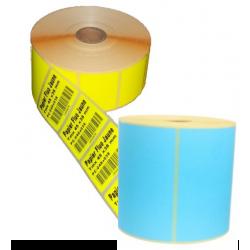 Etiquettes papier Bleu mat