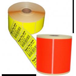 Etiquettes papier Rouge fluo