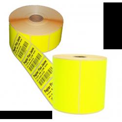 Etiquettes papier Jaune fluo