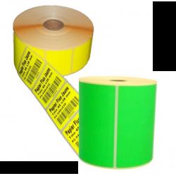 Etiquettes papier Vert fluo