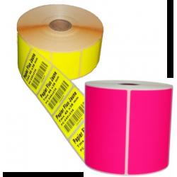 Etiquettes papier Rose fluo