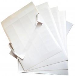 Etiquettes papier blanc mat