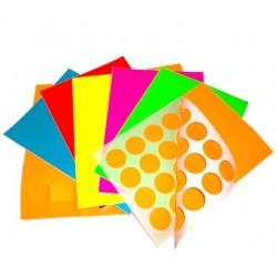 Étiquettes papier couleur en planches A4