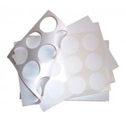 étiquettes polyester blanc