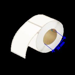 2tiquettes papier kraft blanc sans revêtement