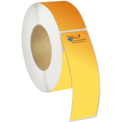 Bobine étiquettes laser LED polyester satin doré
