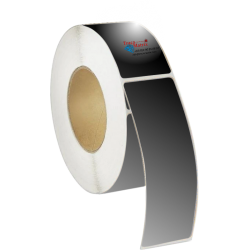 Bobine étiquettes laser LED polyester noir satin